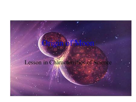 Lesson in Characteristics of Science