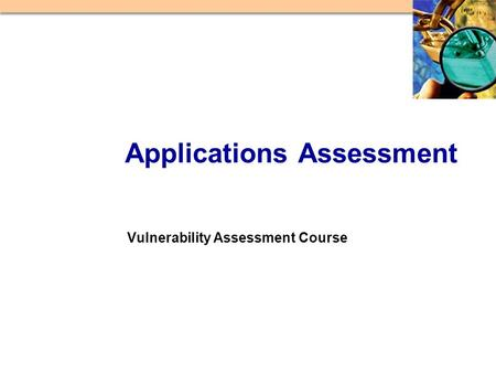 Vulnerability Assessment Course Applications Assessment.
