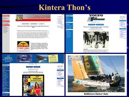 Kintera Thon's. What is a Kintera Thon Online & offline business Revenue Marketing Advertising Customer Service Accounting Database Selling tickets, seats,