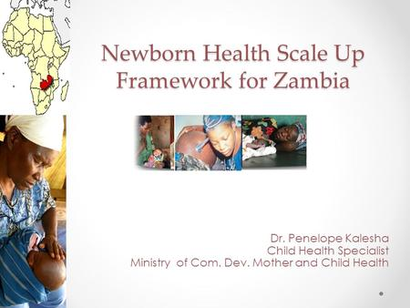 Newborn Health Scale Up Framework for Zambia