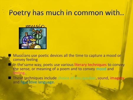 Poetry has much in common with..
