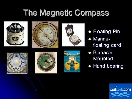 The Magnetic Compass Floating Pin Marine- floating card