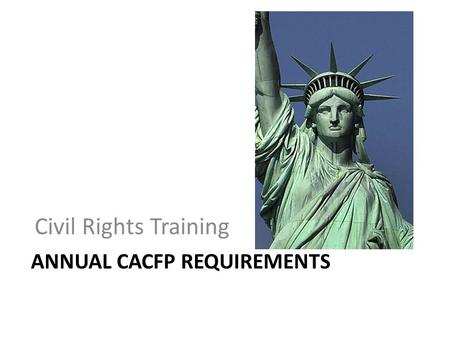 Annual CACFP Requirements