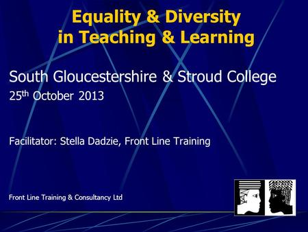 Equality & Diversity in Teaching & Learning