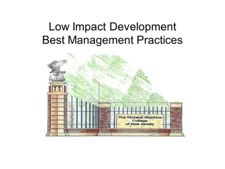 Low Impact Development Best Management Practices