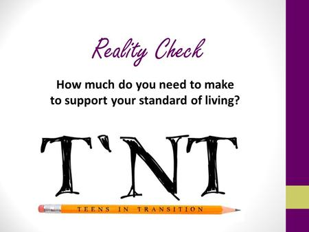 Reality Check How much do you need to make to support your standard of living?
