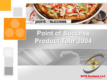 Point of Success Product Tour 2004 The Point of Success System Point of Success includes two separate programs -- The Office Manager program that is.