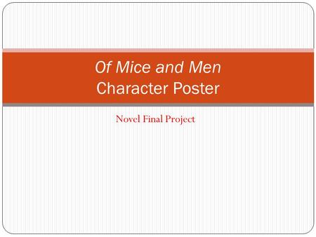 Of Mice and Men Character Poster