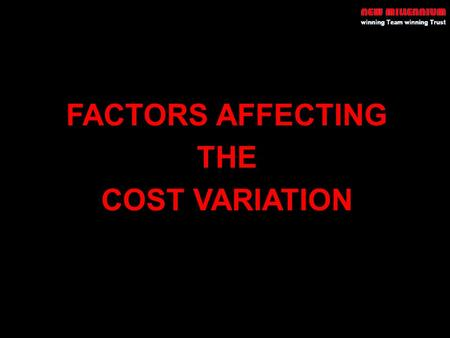 FACTORS AFFECTING THE COST VARIATION. PRESENTATION STRUCTURE External Development Works External Development Works –Civil Works –Plumbing Works –Electrical.