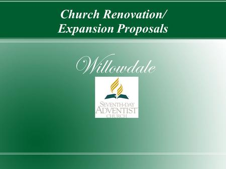 Church Renovation/ Expansion Proposals Willowdale.