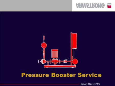 Sunday, May 17, 2015 Pressure Booster Service. Sunday, May 17, 2015 Booster Service Basics Control Panel Components Setting a pressure switch Setting.