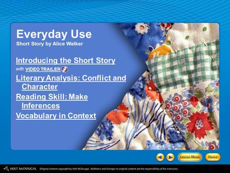 Everyday Use Introducing the Short Story