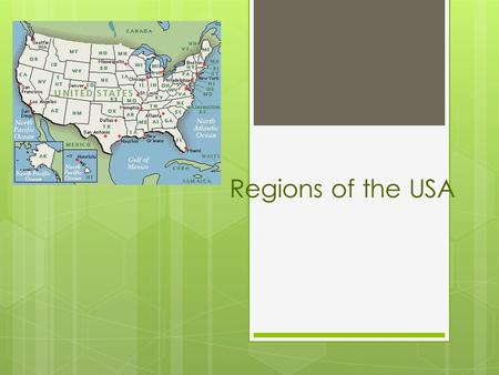 Regions of the USA.