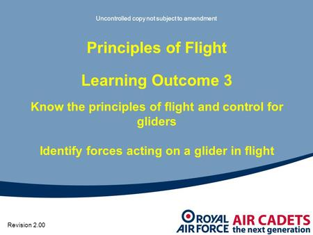 Principles of Flight Learning Outcome 3