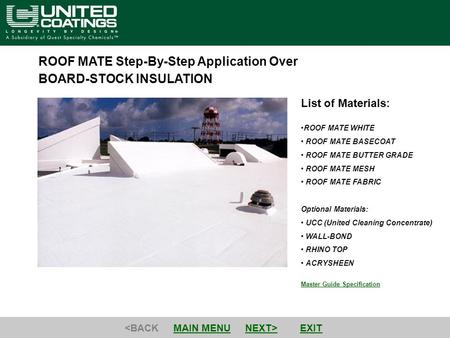 ROOF MATE Step-By-Step Application Over BOARD-STOCK INSULATION