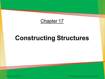 Constructing Structures
