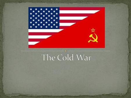 The Cold War 1. Essential Question How did WW2 help lead to the start of the Cold War? 2.