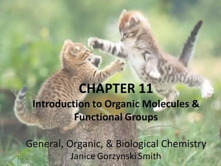 Introduction to Organic Molecules & Functional Groups