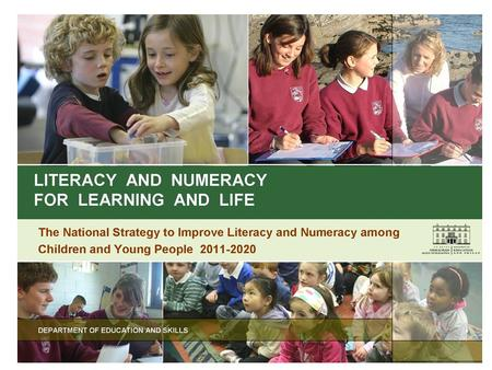 The PDST is funded by the Department of Education and Skills under the National Development Plan, 2007-2013 Literacy & Numeracy for Learning and Life: