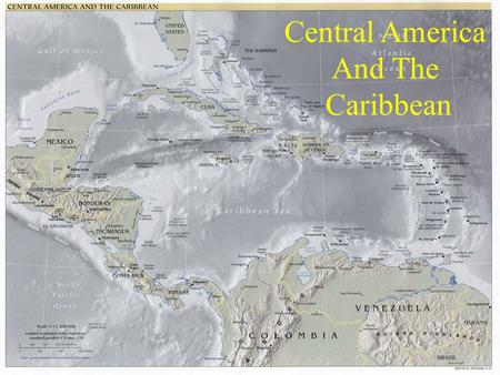 Central America And The Caribbean. Central America Isthmus – A narrow strip of land, with water on both sides, that connects two larger bodies of land.