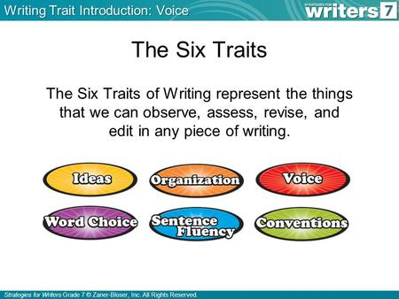 Writing Trait Introduction: Voice