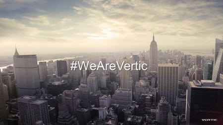 #WeAreVertic. Sebastian Jespersen CEO & President As CEO Sebastian's focus will be to ensure that clients receive measurable business value. Before Vertic.