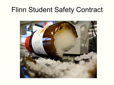 flinn lab safety contract pdf