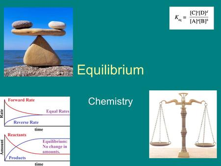 Equilibrium Chemistry. Equilibrium A + B  AB We may think that all reactions change all reactants to products, or the reaction has gone to completion.