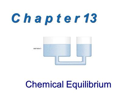 C h a p t e r 13 Chemical Equilibrium. The Equilibrium State Chemical Equilibrium: The state reached when the concentrations of reactants and products.