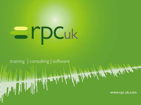 www.rpc.uk.com Extending the PMO horizon through real business intelligence.