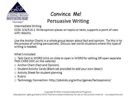 persuasive writing topics year 1