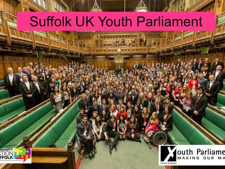 Suffolk UK Youth Parliament.  UK Youth Parliament (UKYP) is run by young people for young people. There are hundreds of MYPs (Members of Youth Parliament)
