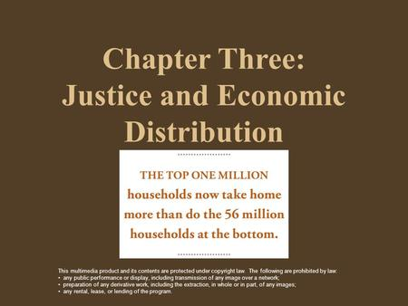 Chapter Three: Justice and Economic Distribution