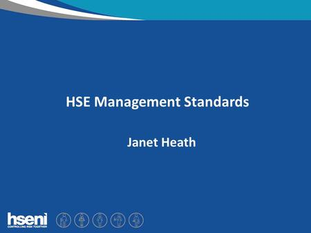 "HSE Management Standards Janet Heath. What is stress? ""the adverse reaction people have to excessive pressures or other types of demand placed upon them"""