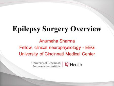Epilepsy Surgery Overview