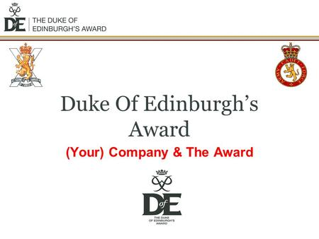 Duke Of Edinburgh's Award (Your) Company & The Award.