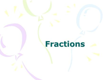 Fractions. What is 1 of £32? 2 What is 1 of £32? 2 Answer: £16.