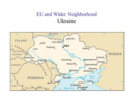 EU and Wider Neighborhood Ukraine. EU and Wider Neighborhood Health Gap Main problem –premature adult morbidity and mortality Economic issue –loss of.