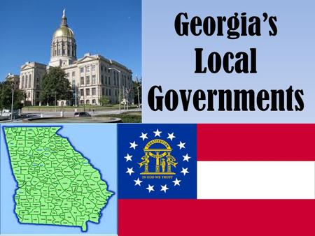 Georgia's Local Governments.
