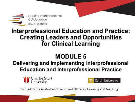 Funded by the Australian Government Office for Learning and Teaching