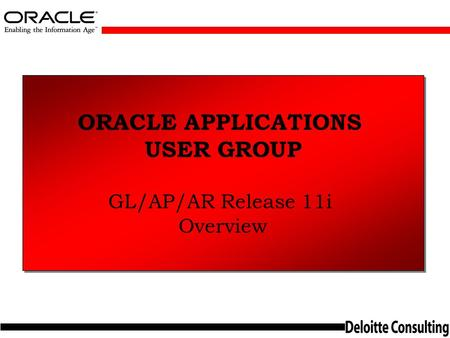 ORACLE APPLICATIONS USER GROUP