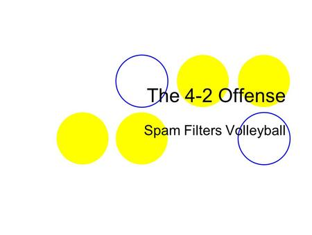 Spam Filters Volleyball
