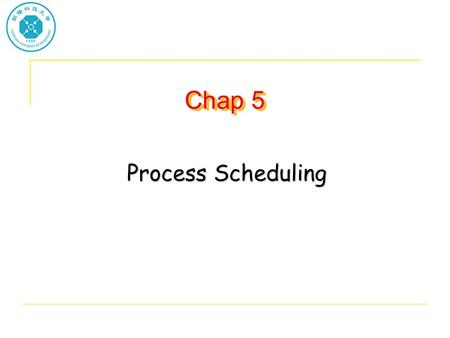 Chap 5 Process Scheduling. Basic Concepts Maximum CPU utilization obtained with multiprogramming CPU–I/O Burst Cycle – Process execution consists of a.