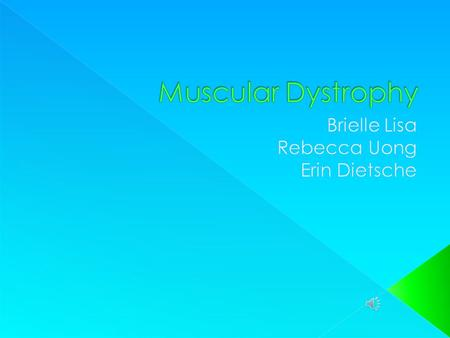  Muscular Dystrophy (MD) is a group of inherited muscle diseases, in which muscle fibers are unusually susceptible to damage. Muscles, primarily voluntary.