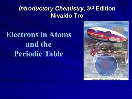Introductory Chemistry, 3 rd Edition Nivaldo Tro Electrons in Atoms and the Periodic Table.