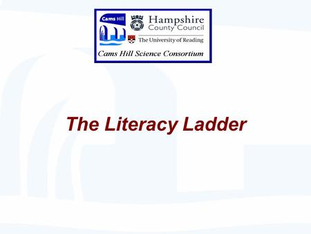 "The Literacy Ladder. Key Stage 3 National Strategy Language for learning Literacy ""talk"" thinking debate engagement explanations comprehension Problem."