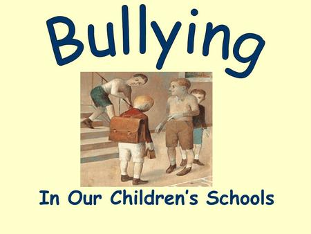 does childhood bullying have social psychological The study included verbal, physical and psychological bullying and the comparisons were adjusted to take into account social background factors, such as family hardship, family stability and.