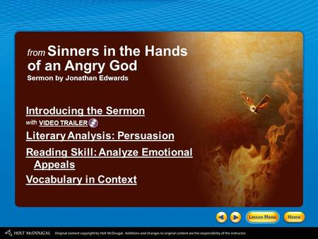 of an Angry God Introducing the Sermon Literary Analysis: Persuasion