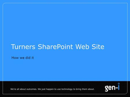 Turners SharePoint Web Site How we did it. 2 Page Anatomy Custom Search Web Part Custom Search Web Part Data Form Web Parts Content Query Web Part HTML.