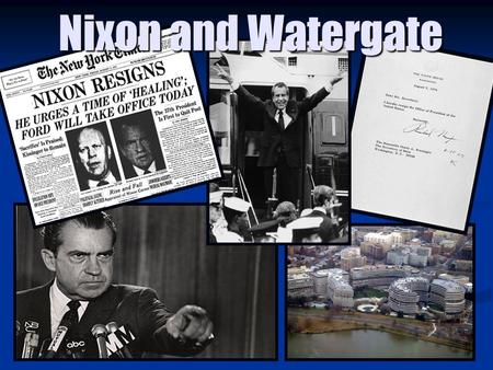 Nixon and Watergate. The Election of 1968 Nixon campaigned as a champion of the silent majority, the hardworking Americans who paid taxes, did not demonstrate,